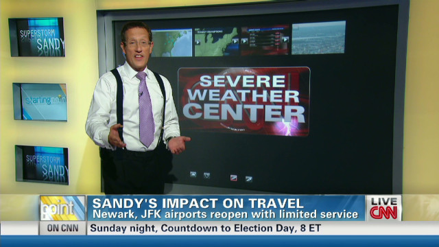 Superstorm Sandy's impact on travel