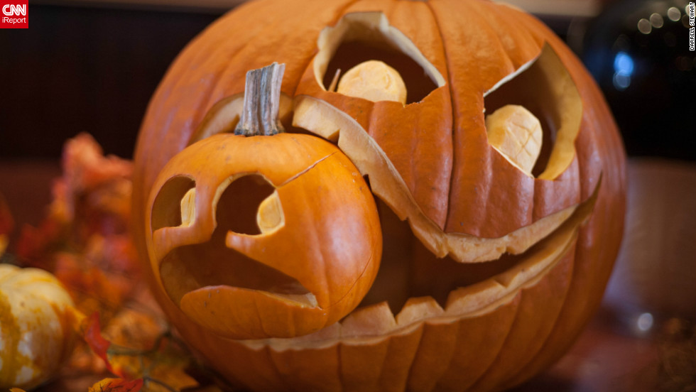 "<a href=""http://ireport.cnn.com/docs/DOC-870103"" target=""_blank"">Darrell Stewart</a>, a computer salesman, spotted this ravenous pumpkin display at the Kincaids Restaurant in Redondo Beach, California.""Everyone loves this picture,"" said the 52-year-old from Long Beach."
