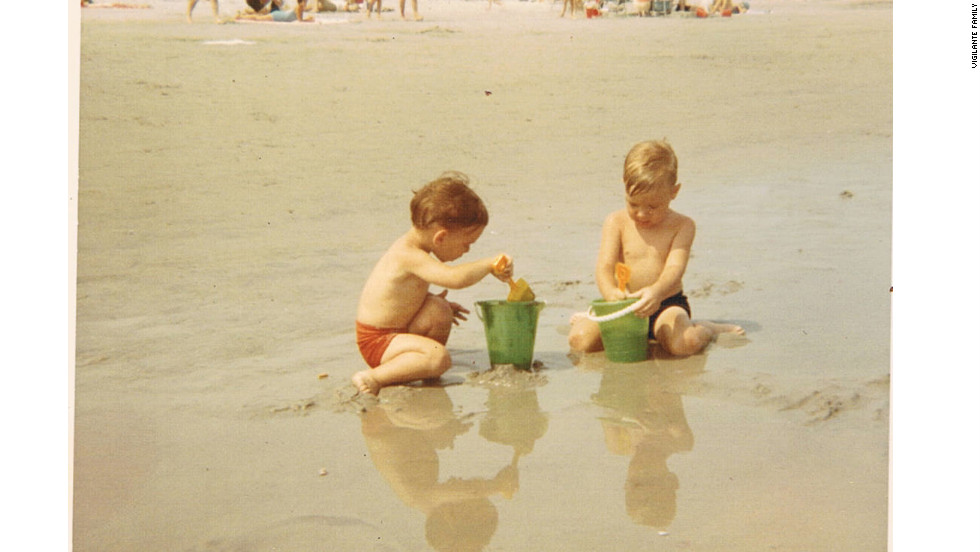 Me and my brother Mike in Wildwood, 1969