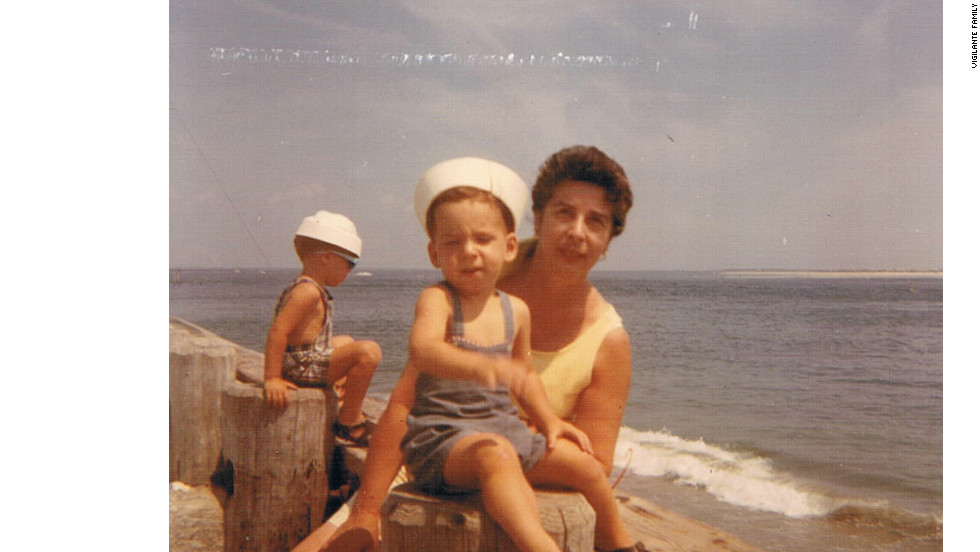Me and my grandmother in Wildwood, 1972