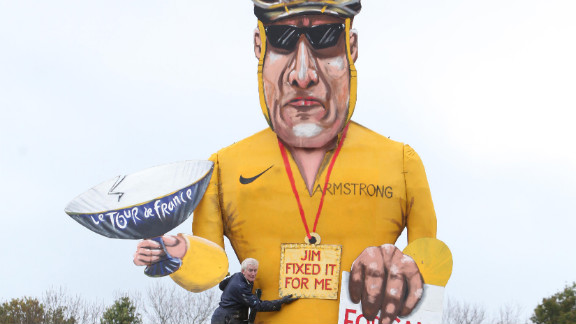 "Disgraced cyclist Lance Armstrong is the subject of annual Bonfire Night celebrations in the British town of Edenbridge. An effigy of Armstrong will be burned during the celebrations, which mark the foiling of Guy Fawkes' ""gunpowder plot"" to blow up the Houses of Parliament and kill King James I in 1605. The Edenbridge Bonfire Soceity has gained a reputation for using celebrity ""Guys,"" including Tony Blair, Jacques Chirac and Saddam Hussein."