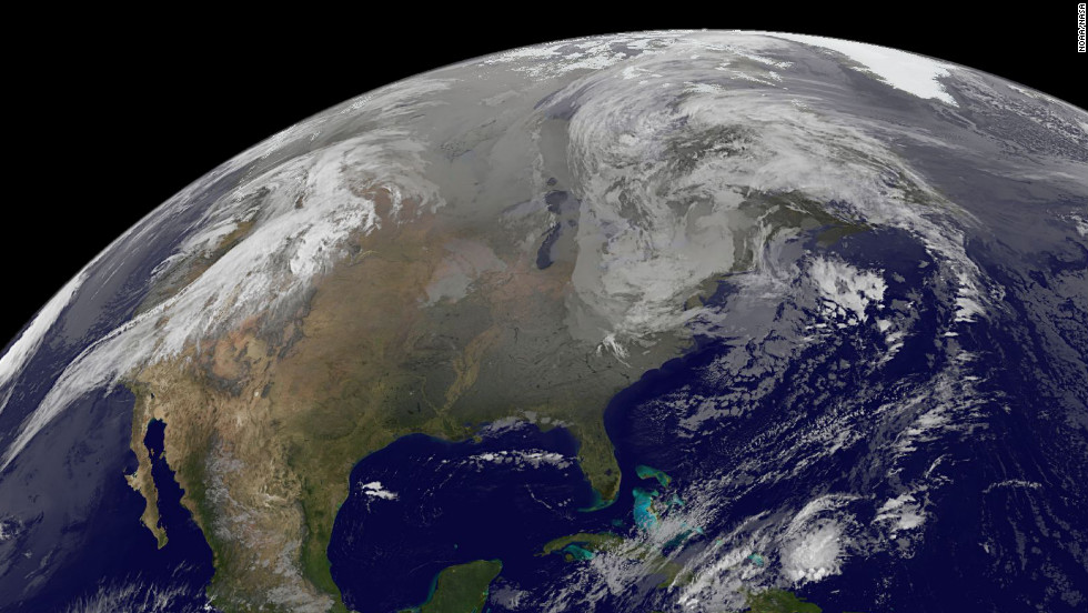 Superstorm Sandy was just a low pressure area at 5 a.m. on Thursday, November 1.