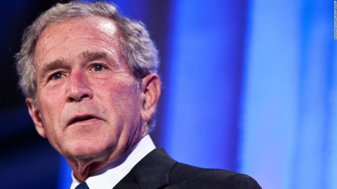 George W. Bush (2001-2009) is the son of former President George H.W. Bush. His presidency was largely defined by his response to the 9/11 terrorist attacks. In 2003, he ordered the invasion of Iraq on suspicion that Saddam Hussein had weapons of mass destruction.