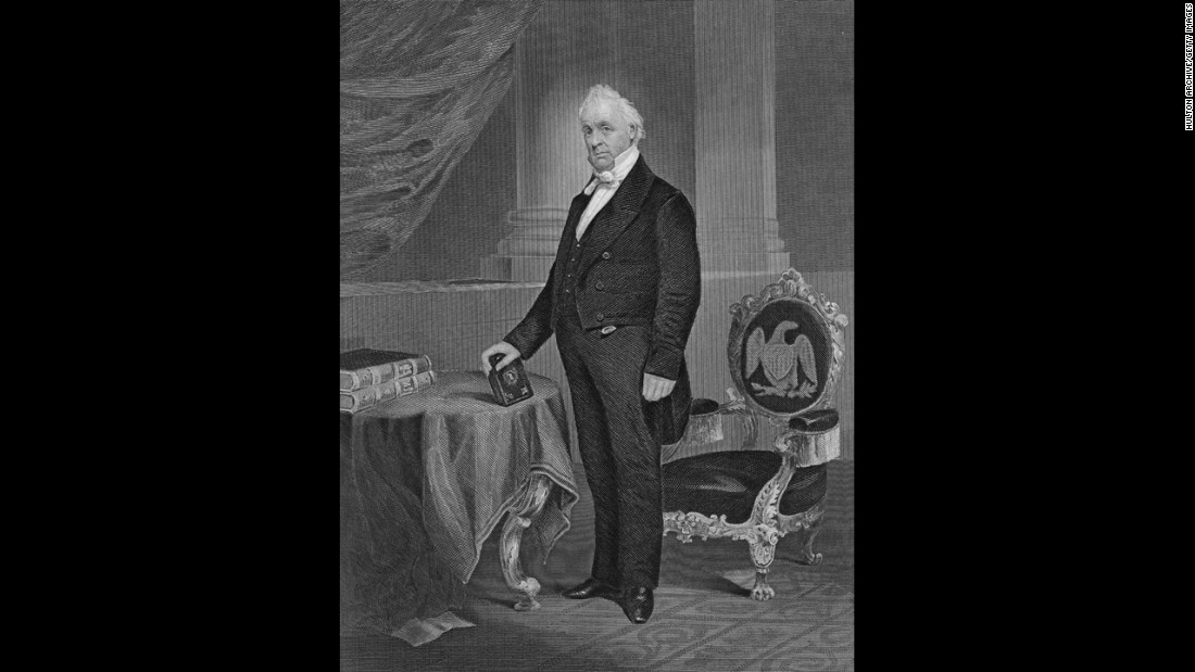 James Buchanan was the country's 17th secretary of state and 15th president. Historians have generally derided him as one of the worst presidents in American history for failing to prevent the Civil War.