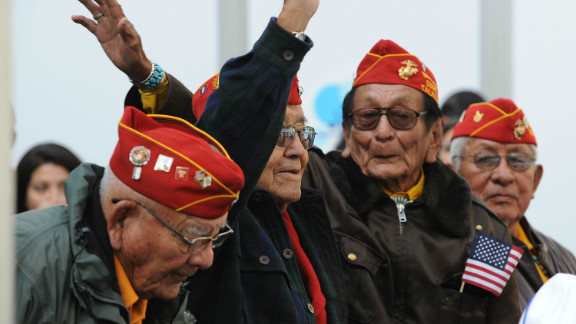 Navajo code talkers attend the 2011 Citi Military Appreciation Day event to honor veterans and current service members in New York