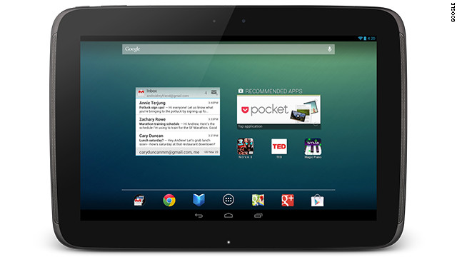 Google and Samsung have teamed up for the Nexus 10 Android tablet, coming November 13.