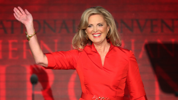 Ann Romney takes the stage at the 2012 Republican National Convention.