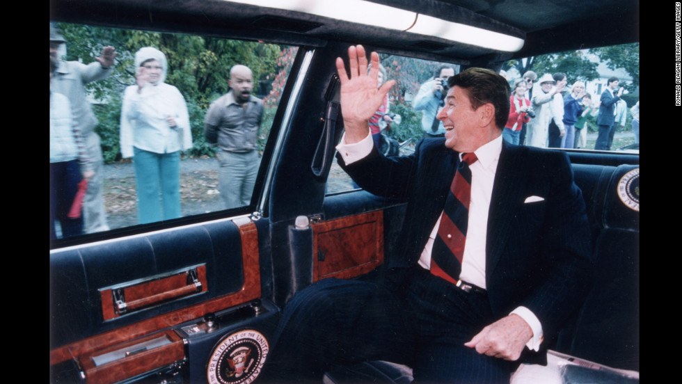 "Ronald Reagan (1981-1989) was the only actor ever elected President, and his talent as a speaker earned him the moniker ""the great communicator."" An affable Republican who wooed many Roosevelt Democrats, the staunchly anti-communist Reagan is seen as having played a large part in the collapse of the Soviet Union."
