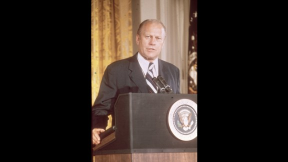 Gerald Ford (1974-1977) had been appointed vice president by Nixon after Spiro Agnew was forced to resign. He then became President when Nixon himself resigned. Remembered mainly for his pardon of Nixon and his physical clumsiness, Ford was not elected to a second term.