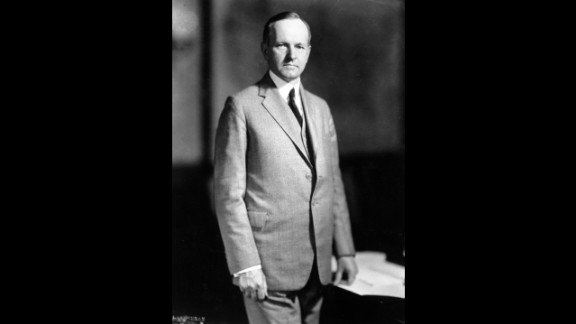 """Calvin Coolidge (1923-1929) served as vice president until the death of Warren G. Harding. His 1924 campaign slogan was """"Keep Cool with Coolidge,"""" and his nickname was """"Silent Cal"""" because of his reputation as a man of few words."""
