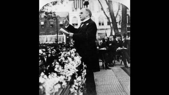 William McKinley (1897-1901) led the country through the Spanish-American War, a three-month conflict that began with the sinking of the USS Maine and ended with Cuban independence. During the beginning of McKinley's second term, he was fatally shot by an anarchist.