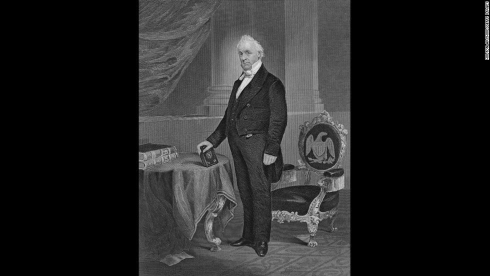 James Buchanan (1857-1861) was the only President who never married. He failed to prevent seven pro-slavery states from seceding during his term.