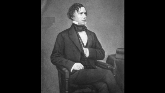 Franklin Pierce (1853-1857) was the first President to not get his party's nomination for re-election. He signed the controversial Kansas-Nebraska Act, which allowed the people there to decide whether to allow slavery. This worsened the tension between the North and South.