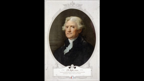 """Thomas Jefferson, the third president, developed a taste for <a href=""""https://www.loc.gov/exhibits/treasures/tri019.html"""" target=""""_blank"""" target=""""_blank"""">French cuisine</a> and <a href=""""https://www.loc.gov/exhibits/treasures/tri034.html"""" target=""""_blank"""" target=""""_blank"""">vanilla ice cream</a> and grew a vast <a href=""""https://www.monticello.org/site/house-and-gardens/jefferson-scientist-and-gardener"""" target=""""_blank"""" target=""""_blank"""">vegetable garden</a>."""