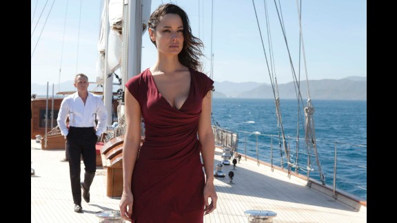 """Sévérine, played by Bérénice Marlohe, helps Bond track Raoul Silva (Javier Bardem) in """"Skyfall,"""" which came out in 2012."""