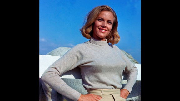 Pilot Pussy Galore, played by Honor Blackman, claimed to be immune to Bond