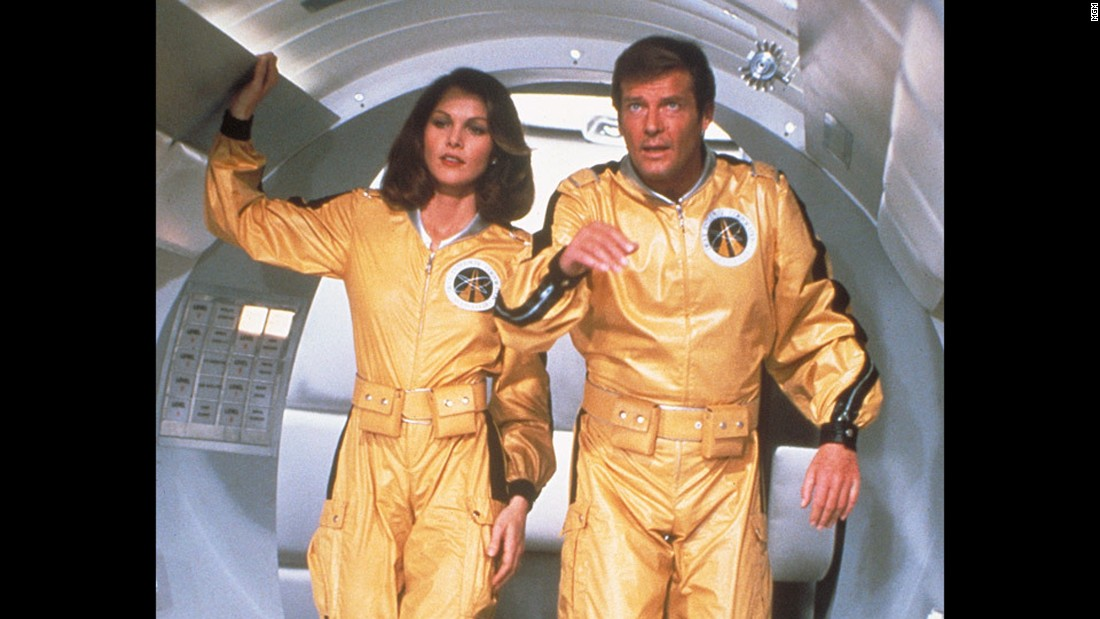 "Space scientist/astronaut/CIA agent Holly Goodhead, played by Lois Chiles, flies with Bond to Drax's space station in 1979's ""Moonraker."""