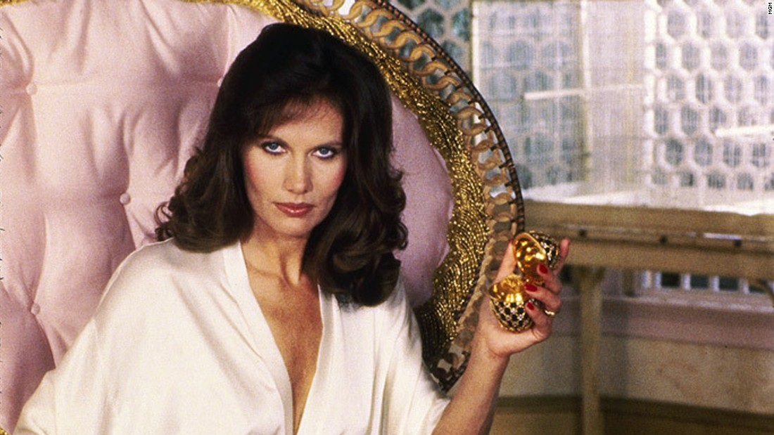 Maud Adams starred alongside Moore's Bond as Octopussy in the 1983 film of the same name. The jewel smuggler and circus owner alerts Bond to a bomb, making her another girl to save his life.