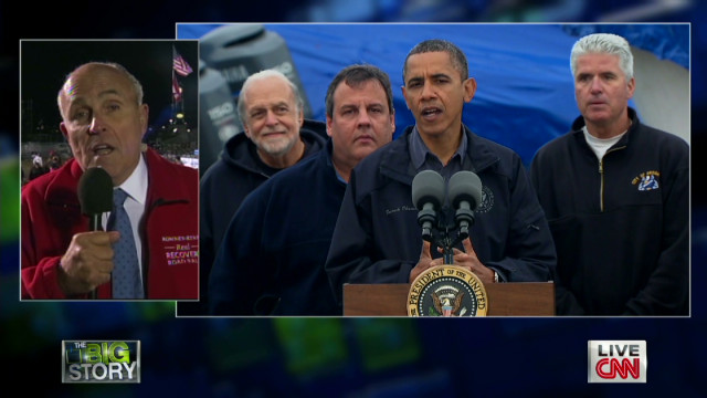 Giuliani criticizes Obama on Sandy
