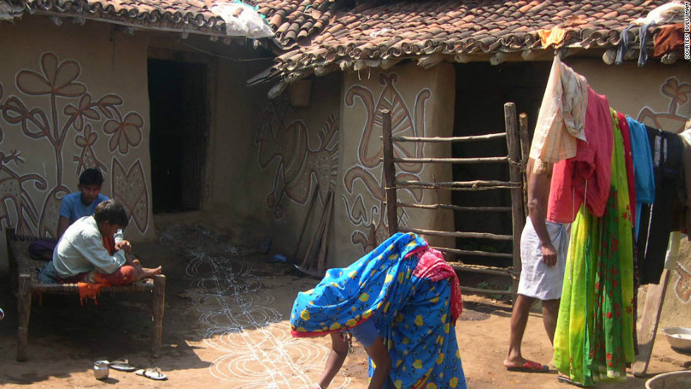 In the tribal villages of Jharkhand in the east of India the Festival of Lights is associated with the harvest of rice in November and the celebration of cattle which have brought food to the village according to Bulu Imam, environmentalist and author, who lives in Jharkhand. Women also paint beautiful art murals on the walls of their mud homes at this time and the cows are decorated.