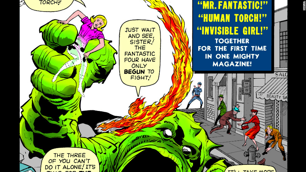 The Fantastic Four started it all for Marvel Comics in the 1960s. In their first issue, Mr. Fantastic, the Invisible Girl, the Thing and the Human Torch didn't even wear uniforms.