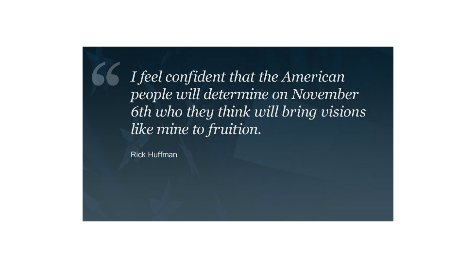 "<a href=""http://ireport.cnn.com/people/Logan248"">Rick Huffman</a> says he expects the next president to turn the economy around. He shared his <a href=""http://ireport.cnn.com/docs/DOC-870889"">vision for America</a> in a video on CNN iReport."