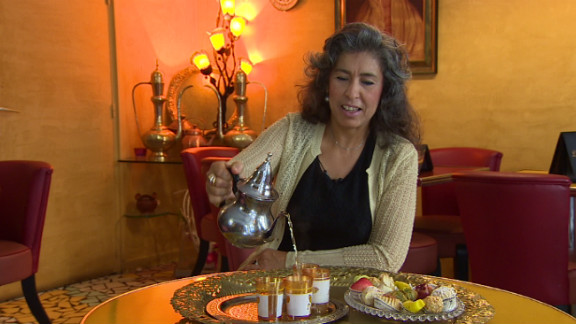 """Samira Fahim has run an Algerian cafe in Paris for 17 years. """"It was hard to find Algerian meals in Paris at that time because we did not have a lot of tourists coming to Algeria,"""" she said."""