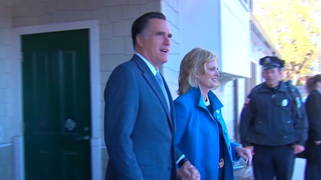 Romney votes, 'feels good' about Ohio