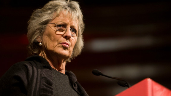 Feminist author Germaine Greer speaks at the Melbourne Writers Festival in 2008.