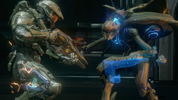 """Combat in """"Halo 4"""" is more strategic than the hard-charging style we've come to know from previous """"Halo"""" games."""