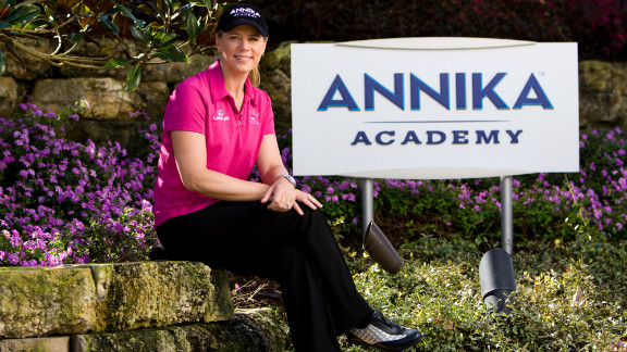 Sorenstam divides her time between family commitments and her business interests which include a successful golf academy.