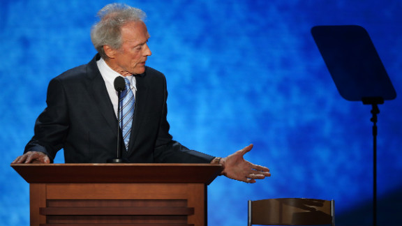 Clint Eastwood talked to an empty chair at the Republican National Convention.