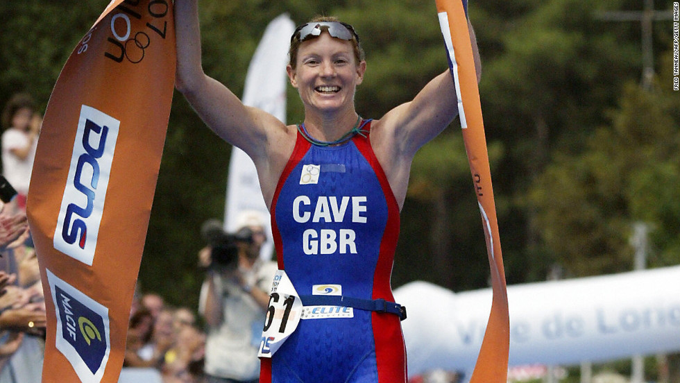 "Leanda Cave became the first female in history to win both the Ironman World Championship and the Half Ironman World Championship in 2012.  The British athlete finished the 2.4-mile swim, 112-mile bike ride and 26.2-mile run in nine hours, 15 minutes and 54 seconds, <a href=""http://www.bbc.co.uk/sport/0/triathlon/19940336"" target=""_blank"">according to the BBC</a>."