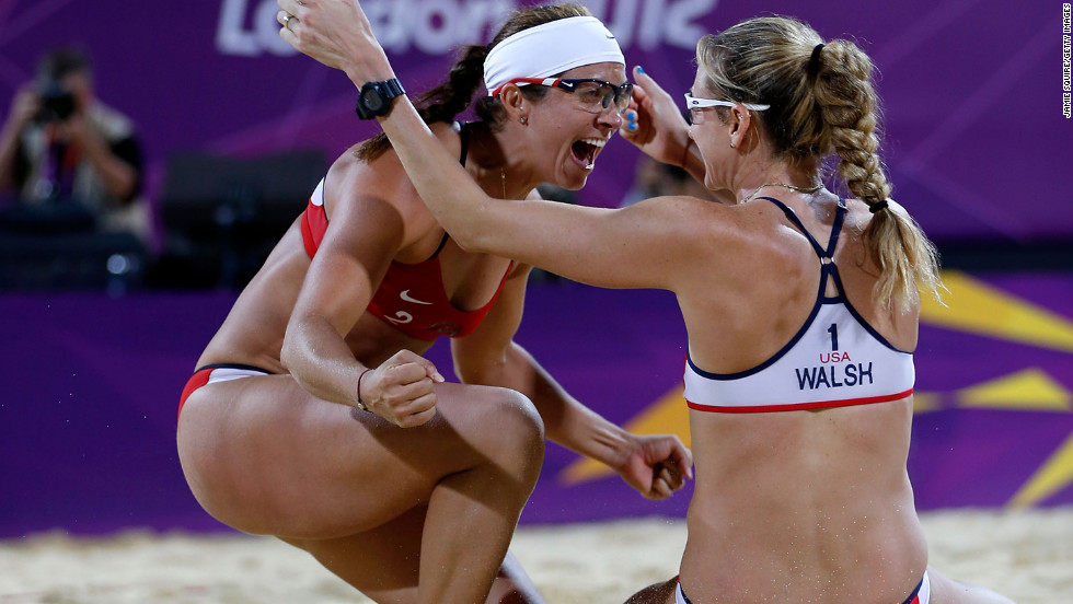 "As <a href=""http://sportsillustrated.cnn.com/2012/olympics/2012/writers/phil_taylor/08/08/may-treanor-walsh-gold-medal-beach-volleyball/index.html#ixzz2BMchvfew"">Sports Illustrated writer Phil Taylor says</a>, ""With all due respect to the other teams who compete in beach volleyball ... there is the duo of Misty May-Treanor and Kerri Walsh Jennings, and there is everybody else."" May-Treanor, left, and Walsh Jennings went into retirement after the 2008 Beijing Olympics. During their time off, May-Treanor tore her Achilles tendon while rehearsing for ""Dancing With the Stars,"" and Walsh Jennings gave birth -- twice. Still, the duo reunited to dominate the 2012 Olympics, losing only one set in their quest for gold."