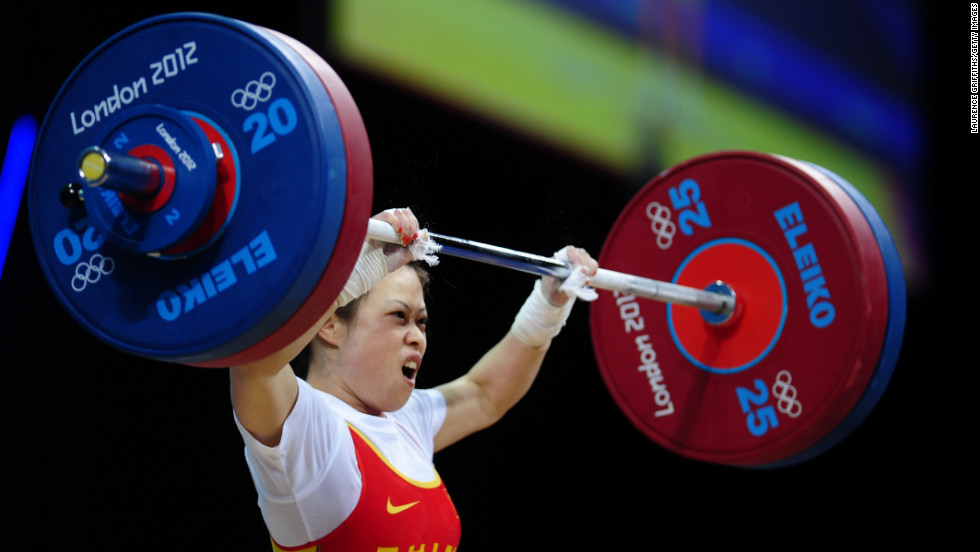 "China's Wang Mingjuan weighs only 106 pounds, but she can lift more than 200. Wang claimed the weightlifting gold medal of the 2012 Olympic Games in the women's lightest category. The 26-year-old four-time world champion has not been defeated in international competition since winning her first world title in 2002, <a href=""http://www.dailymail.co.uk/sport/olympics/article-2180318/London-2012-Olympics-Wang-Mingjuan-wins-weightlifting-gold.html#ixzz2BMmxKGCx"" target=""_blank"">according to the Daily Mail</a>."