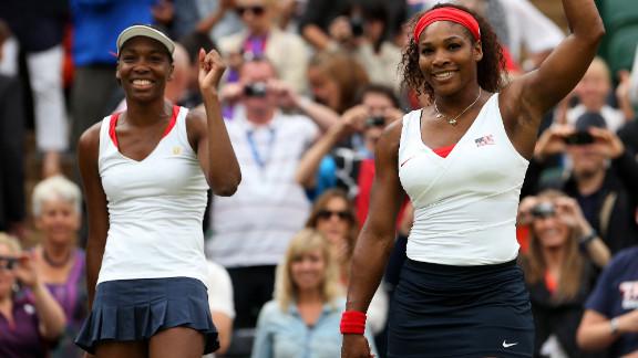 Serena Williams, right, and Venus Williams have dominated women