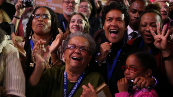 Obama supporters in Chicago, his hometown, shared their joy at the president