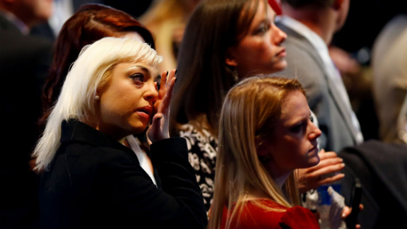 Romney supporters in Boston were tearful and subdued as the numbers told a story they didn