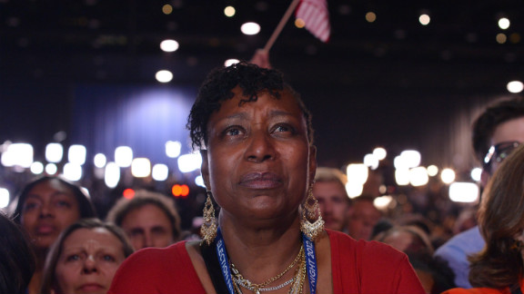 A supporter listened intently to President Barack Obama