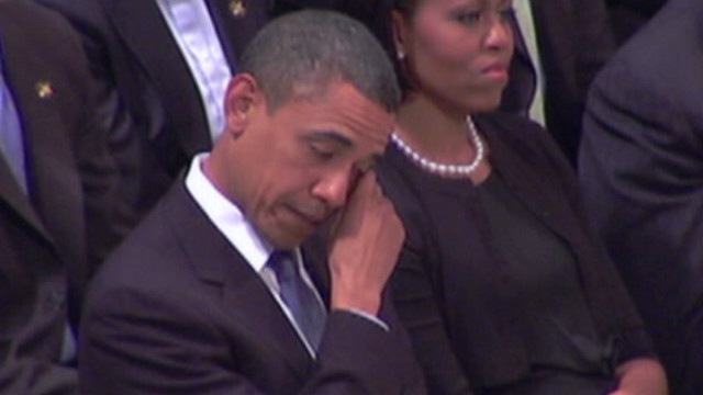Watch Obama get emotional in last speech