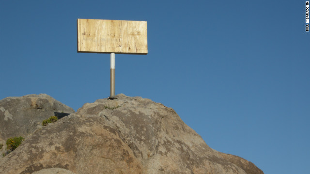 The Mojave Cross in California was covered with plywood while a church-state issue was being resolved.