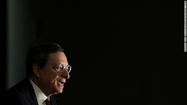 "Speaking in Bratislava, Slovakia, ECB President Mario Draghi said the central bank is ""ready to act if needed."""