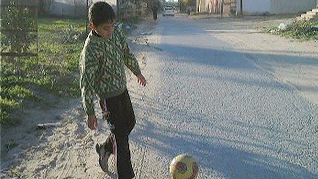 Teen killed playing soccer in Gaza