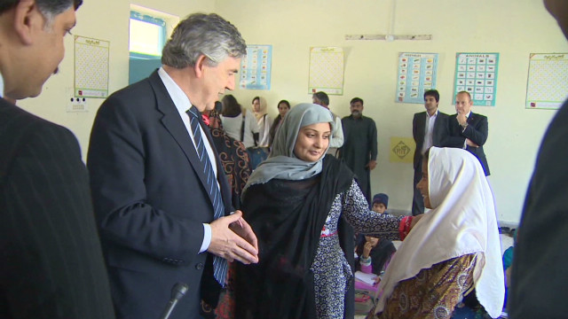 Gordon Brown supports Malala's message