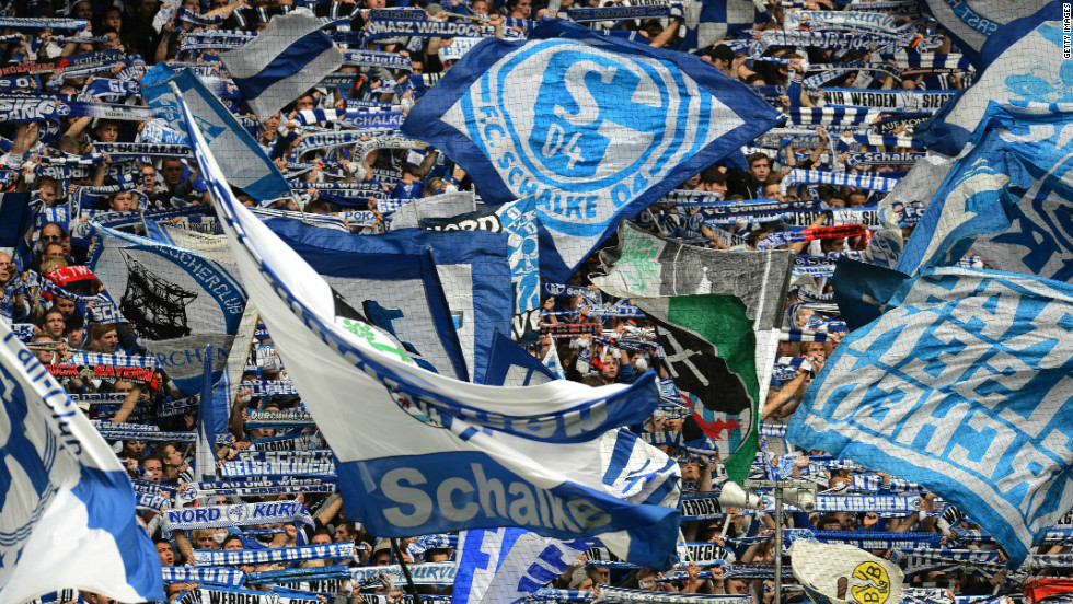 German club Schalke move up two places from last year's list, after their revenue went up to 268.5 million.