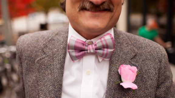 Luckily, the balmy autumn weather ensured that it never got too warm for Nelson Binggeli's vintage Harris Tweed blazer.