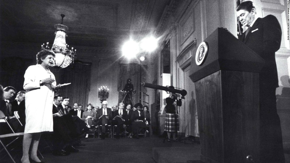 "President Ronald Reagan addresses the media in 1987, months after the disclosure of the <a href=""http://www.cnn.com/SPECIALS/2001/reagan.years/whitehouse/iran.html"">Iran-Contra affair</a>. A secret operation carried out by an American military officer used proceeds from weapons sales to Iran to fund the anti-communist Contras in Nicaragua and attempted to secure the release of U.S. hostages held by Iran-backed Hezbollah in Lebanon. Mehdi Hashemi, an officer of Iran's Islamic Revolutionary Guards Corps, leaked evidence of the deal to a Lebanese newspaper in 1986. Reagan's closest aides maintain he did not fully know, and only reluctantly came to accept, the circumstances of the operation."
