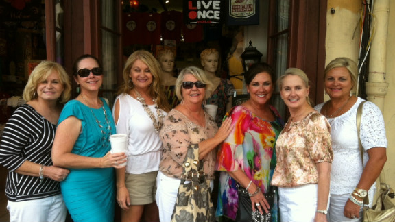 """Julie Abercrombie, Susan Mason, Margaret Collins Jenkins, Margaret Wright, Linda Phillips, Nita Gilmore and Sherry Downs travel to New Orleans for one of the ladies' weekend trips. <br /><br />Find more stories like this on <a href=""""http://www.cnn.com/LIVING/"""">CNN Living</a>, or take a break and join our conversation on <a href=""""https://www.facebook.com/CnnLiving"""" target=""""_blank"""" target=""""_blank"""">Facebook</a>."""