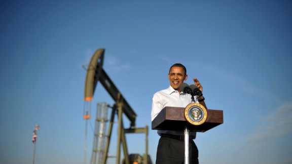 US President Barack Obama speaks at an oil and gas production fields on federal lands March 21, 2012 near Maljamar, NM