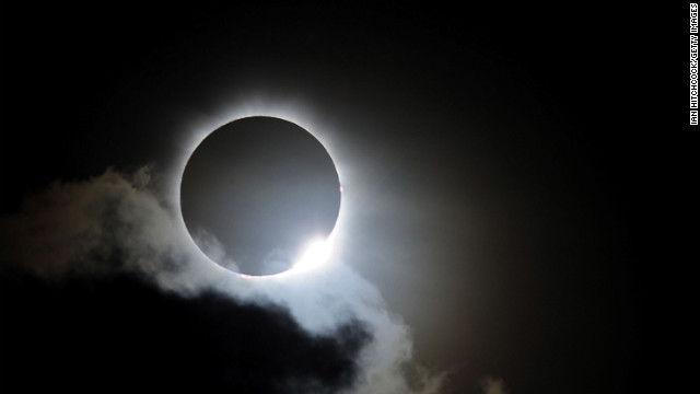 Near totality is seen during the solar eclipse at Palm Cove on Wednesday, November 14,  in Palm Cove, Australia. Thousands of eclipse-watchers have gathered in part of North Queensland to enjoy the solar eclipse, the first in Australia in a decade.
